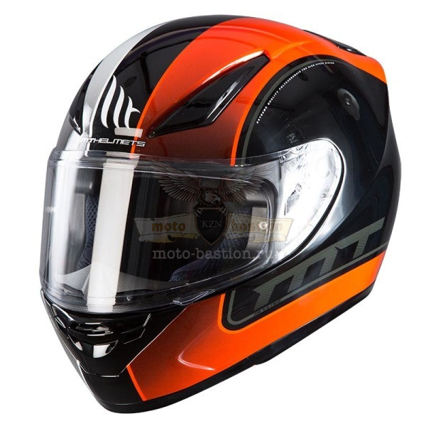 Шлем MT REVENCE  GLOSS BLACK white orange