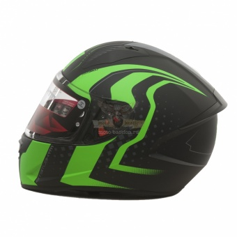 Экипировка - Шлем MT STINGER WARHEAD Matt Black Kawasaki Green