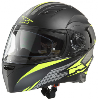 Экипировка - Шлем AXO RS01 Helmet with PINLOCK  -  blac/yellow